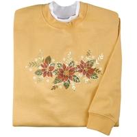 Poinsettia Elegance Pullover