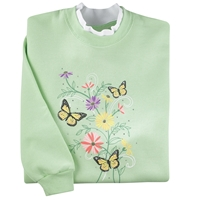 Garden Butterflies Pullover