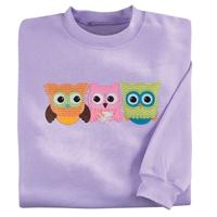 Owl Trio Pullover