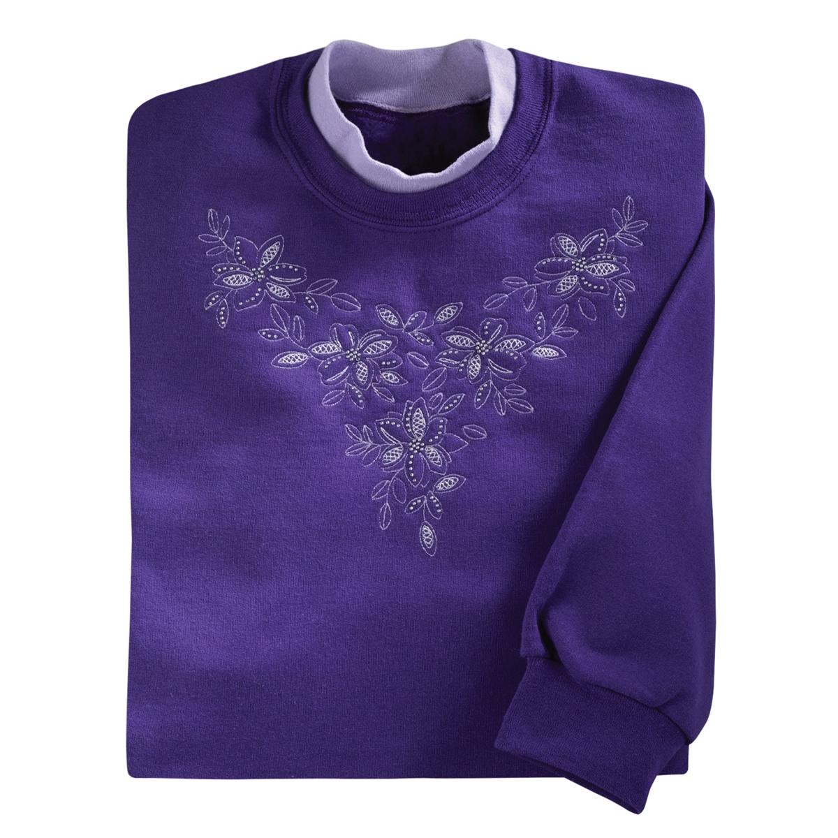 Floral Elegance Pullover