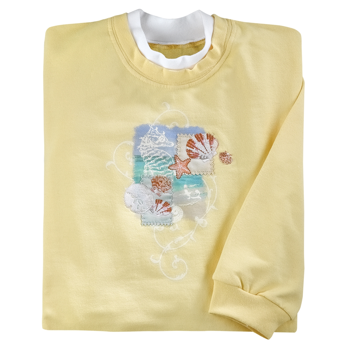 Seahorse Collage Pullover