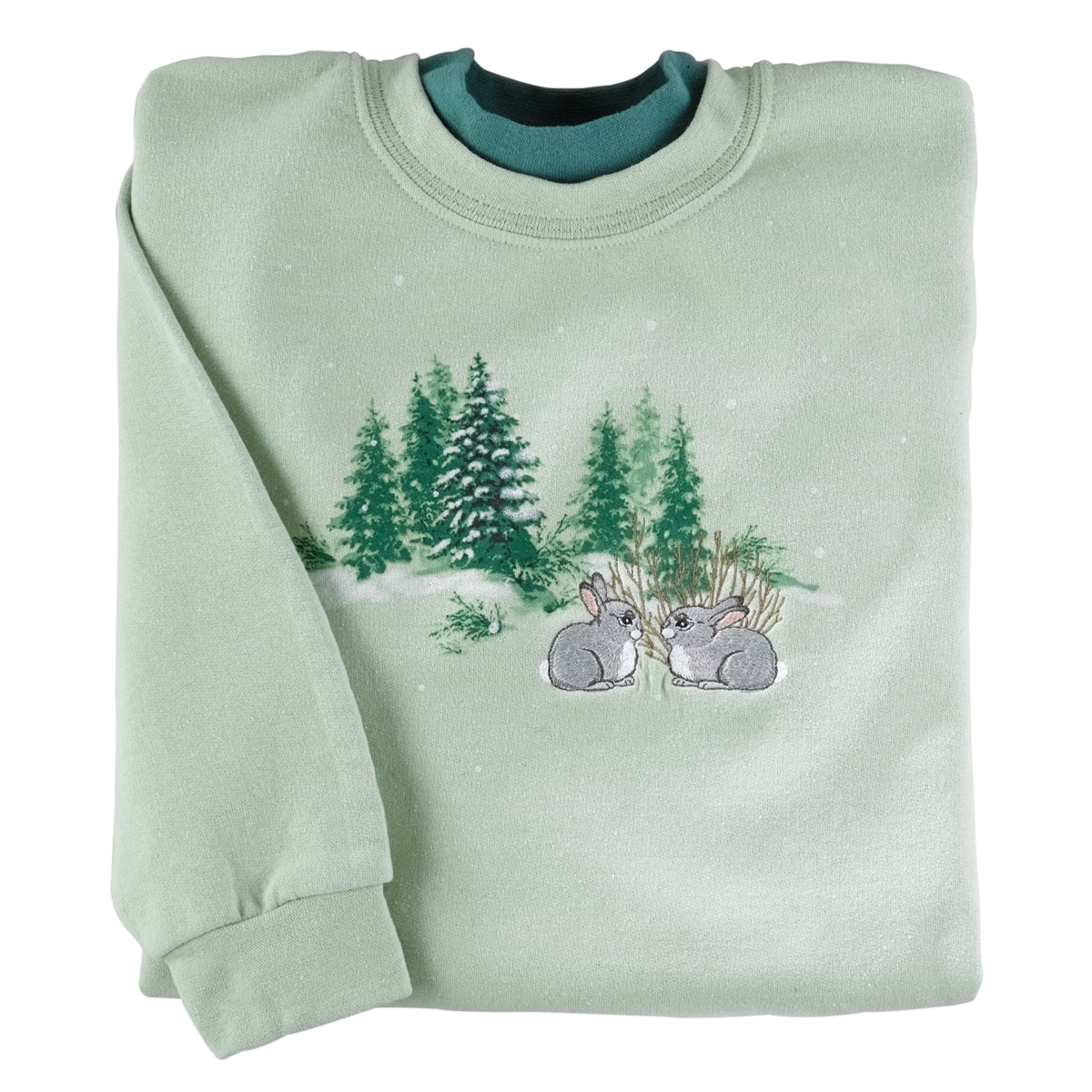 Bunnies in Snow Pullover