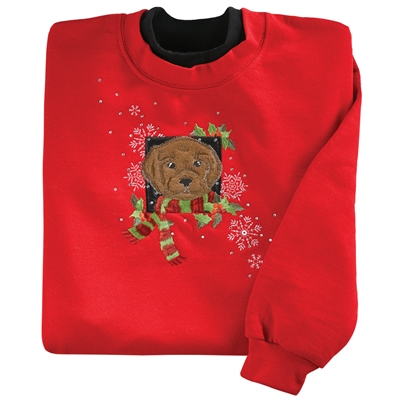 Holiday Chocolate Lab Pullover