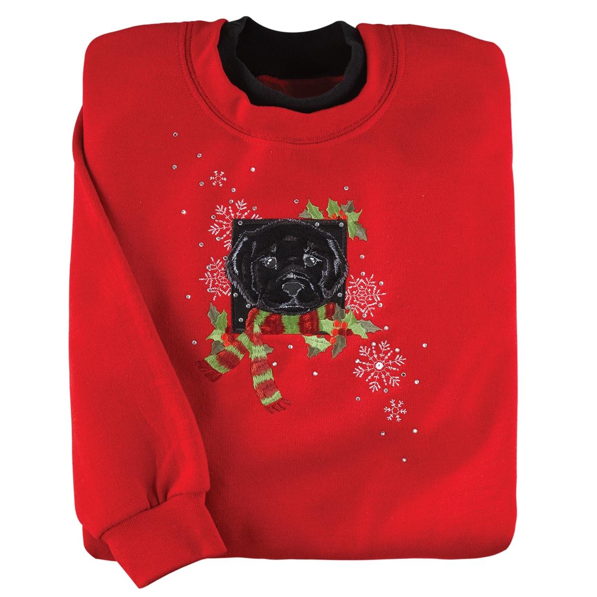 Holiday Black Lab Pullover