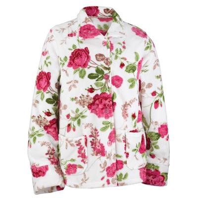 Rose Garden Fleece Bed Jacket