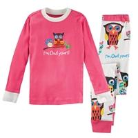 Pink Owl Collection Pajama Set