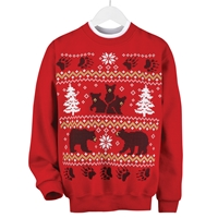 Fair Isle Black Bears Pullover