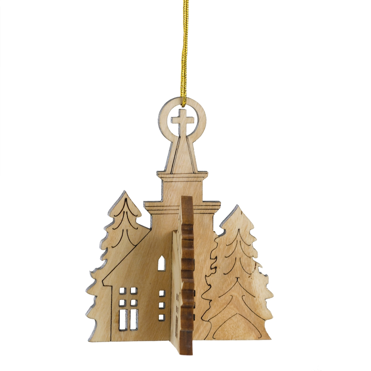 3-D Church Ornament