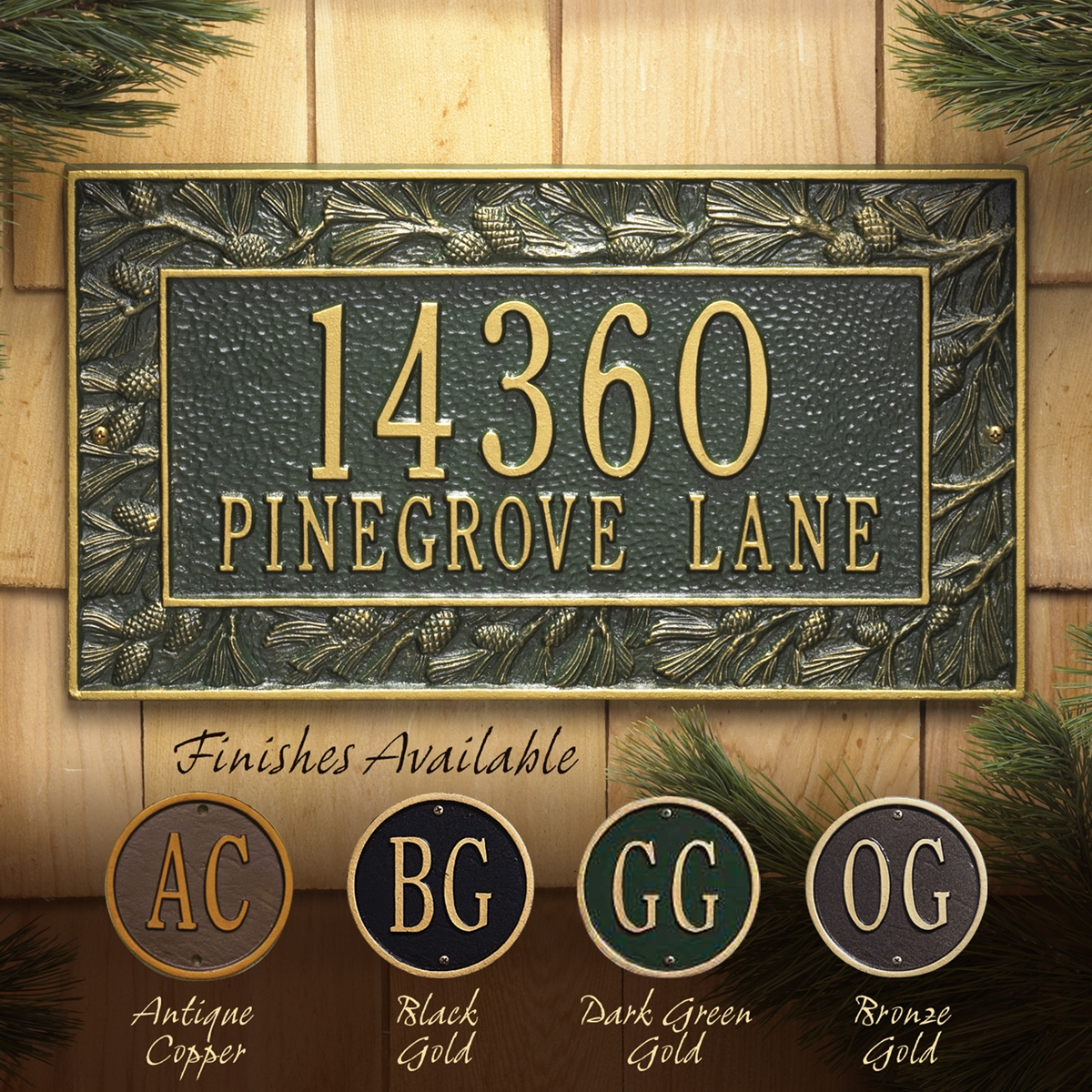 Pine Cone Wall Plaque