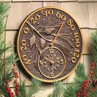 Pine Cone Thermometer Clock