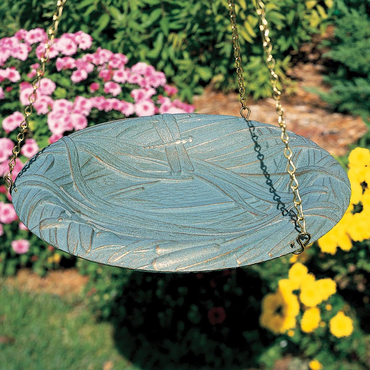 Dragonfly Hanging Birdbath