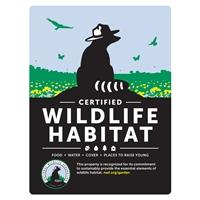 New Certified Wildlife Habitat Sign