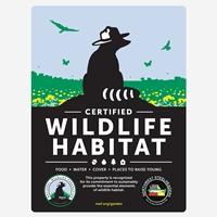 Oregon Northwest Steelheaders Certified Wildlife Habitat Sign