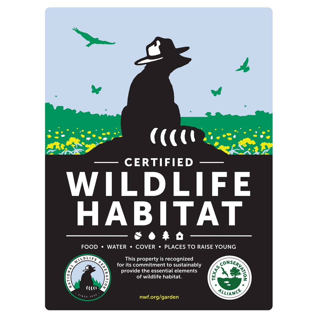 Texas Conservation Alliance Certified Wildlife Habitat Sign