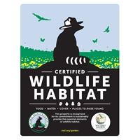 New Jersey Audubon Certified Wildlife Habitat Sign