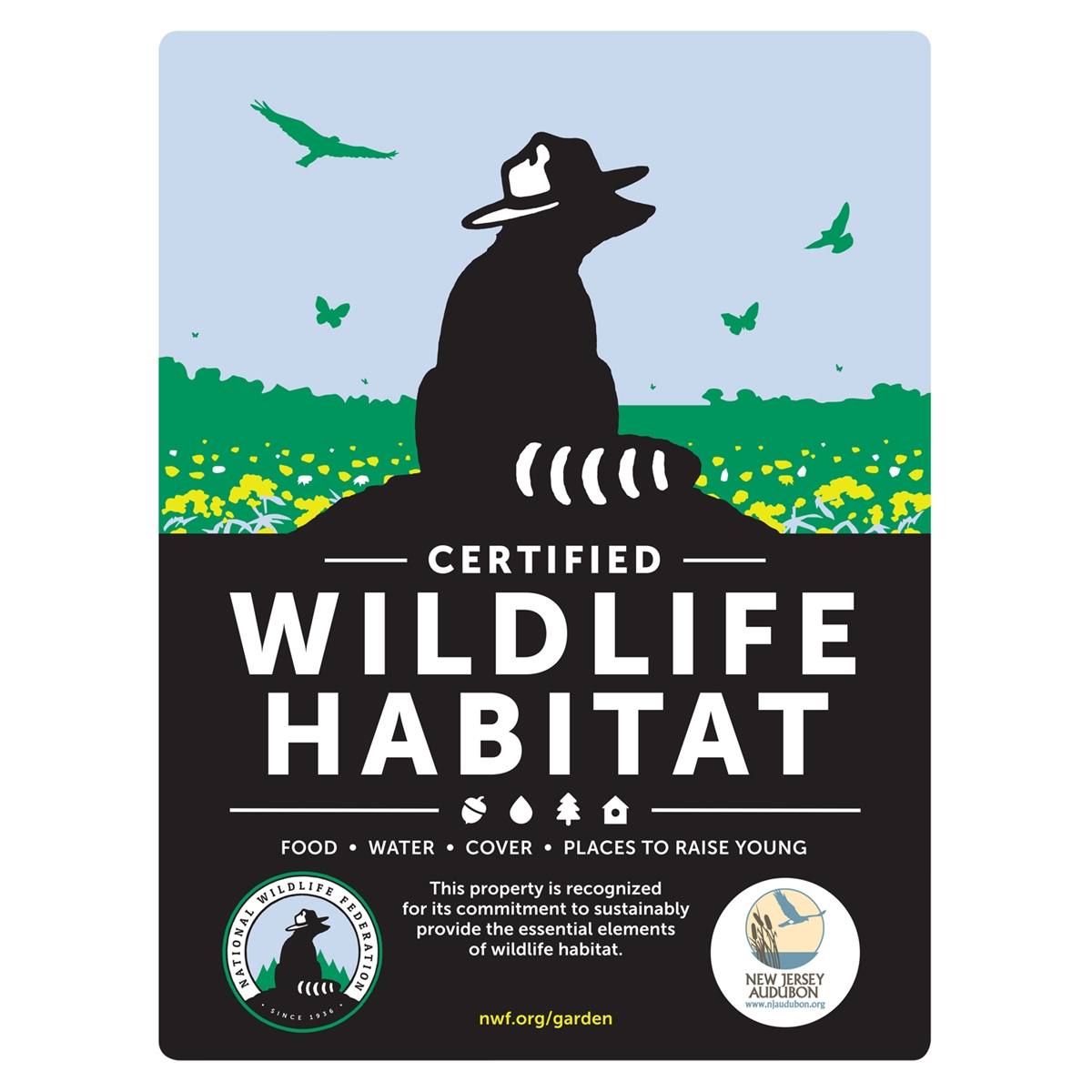 New Jersey Audubon Certified Wildlife Habitat Sign