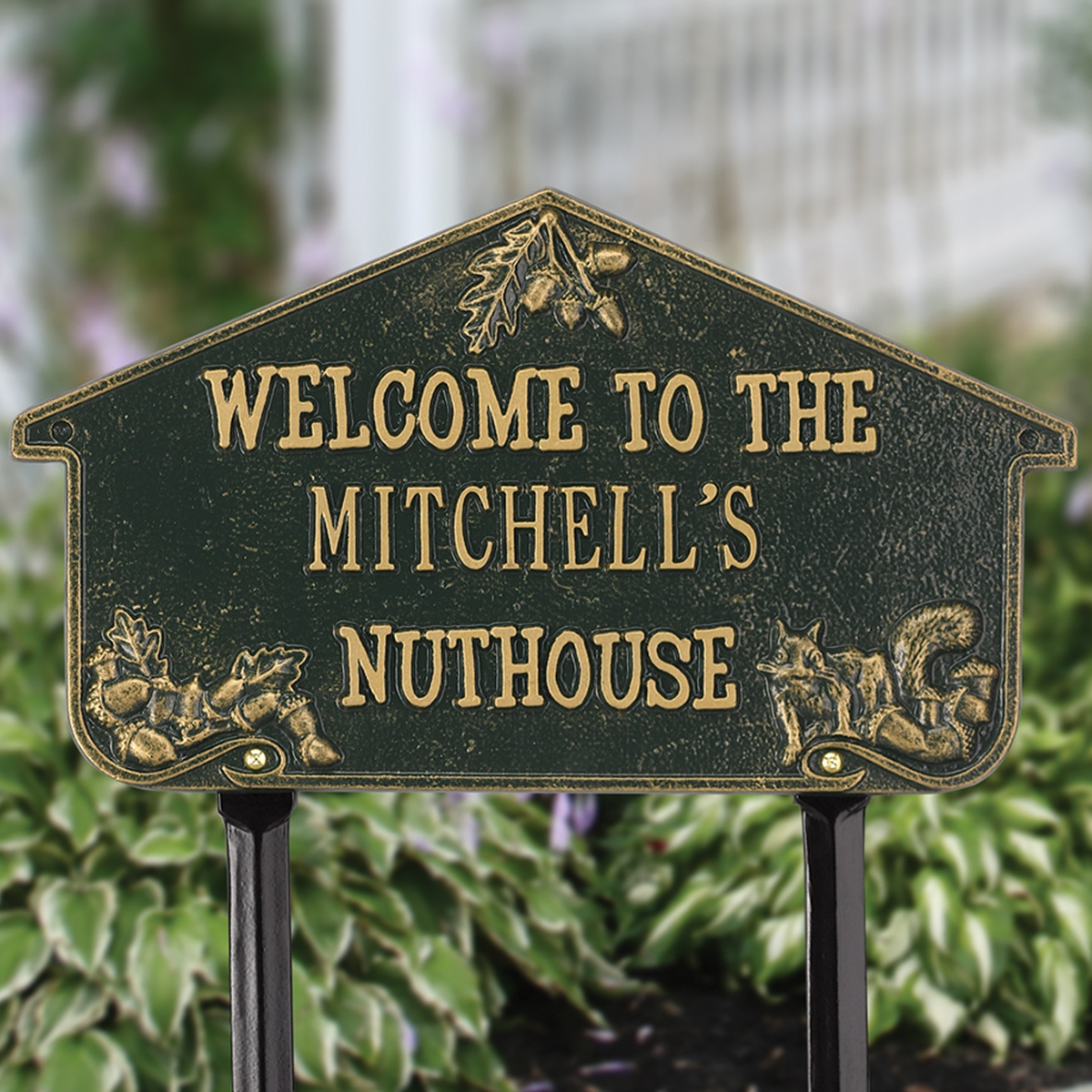 Personalized Nut House Lawn Plaque
