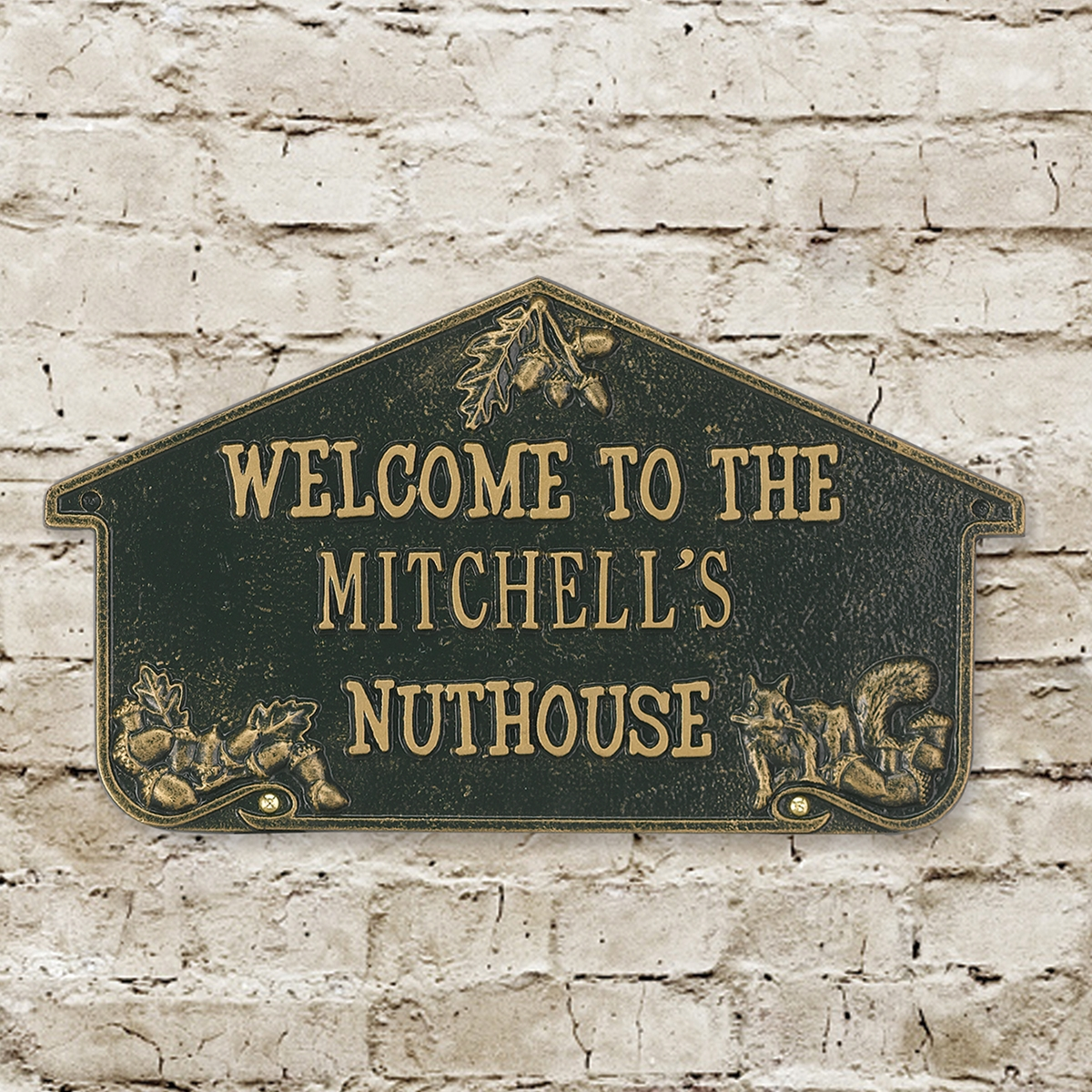 Personalized Nut House Wall Plaque