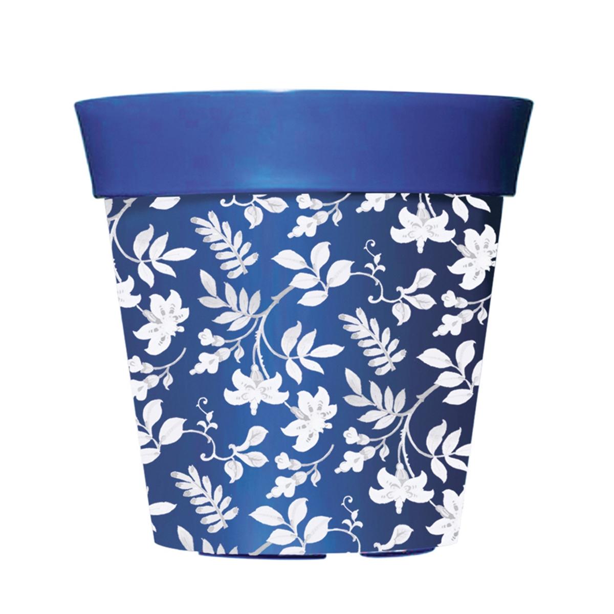 Blue 8 Decorative Pot
