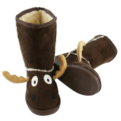Brown Moose Youth Slipper Boots