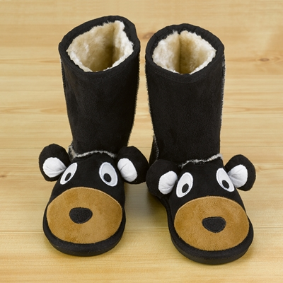 Black Bear Youth Slipper Boots