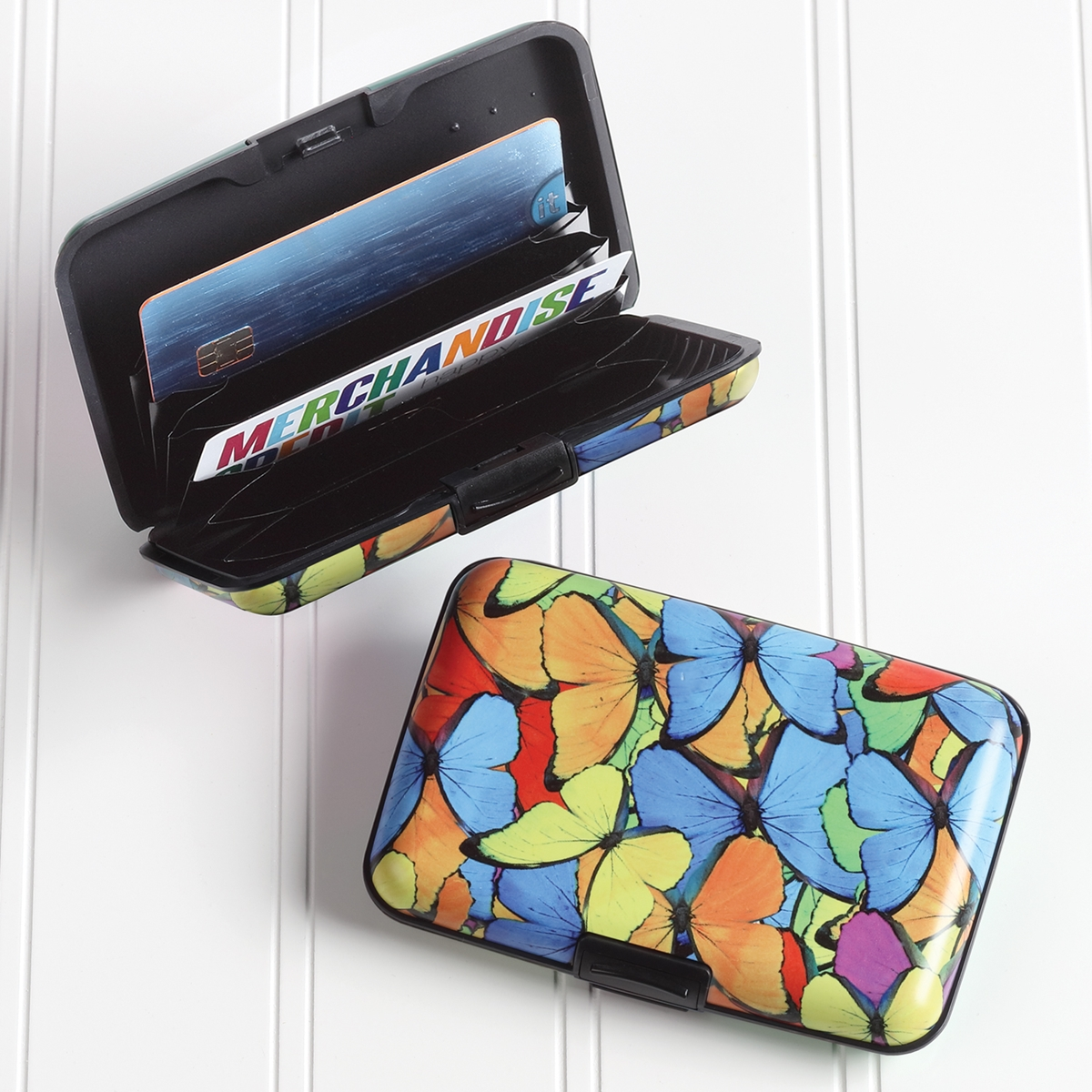 Rainbow Butterfly Armored Wallet
