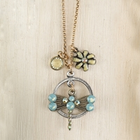 Dragonfly Floral Necklace