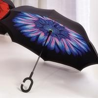 Blue Inverted Umbrella