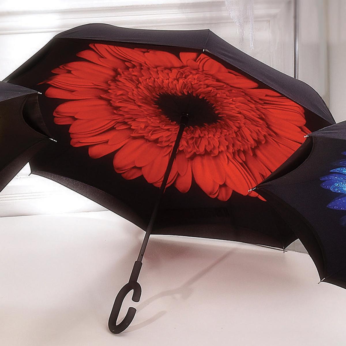 Red Inverted Umbrella