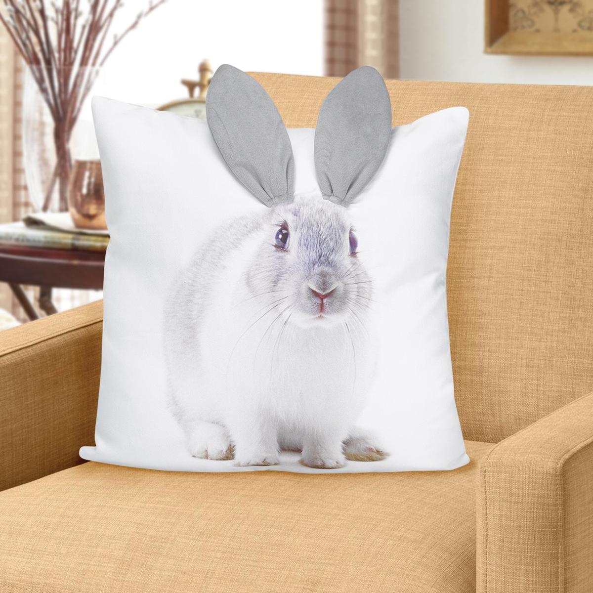 Bunny Ears 3-D Pillow