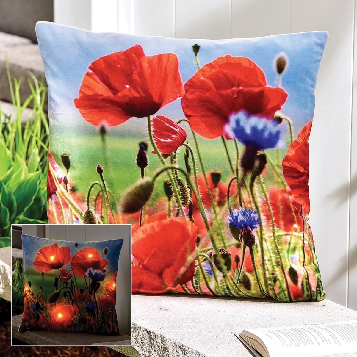 Poppy LED Lighted Pillow