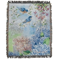 Hydrangea Garden Tapestry Throw