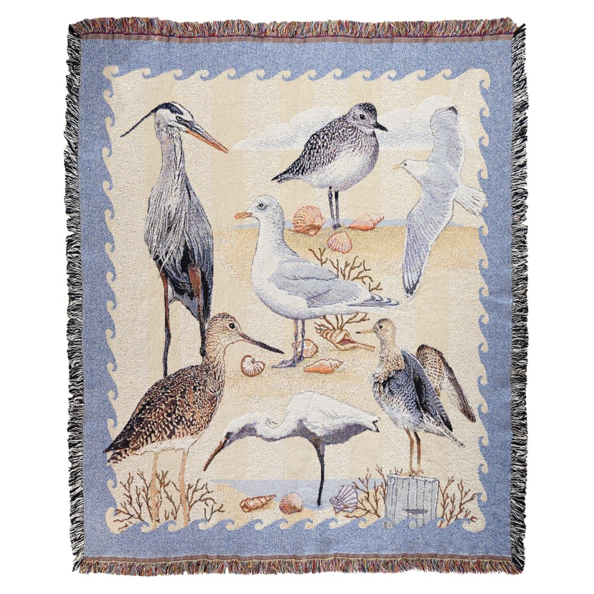 Coastal Tapestry Throw