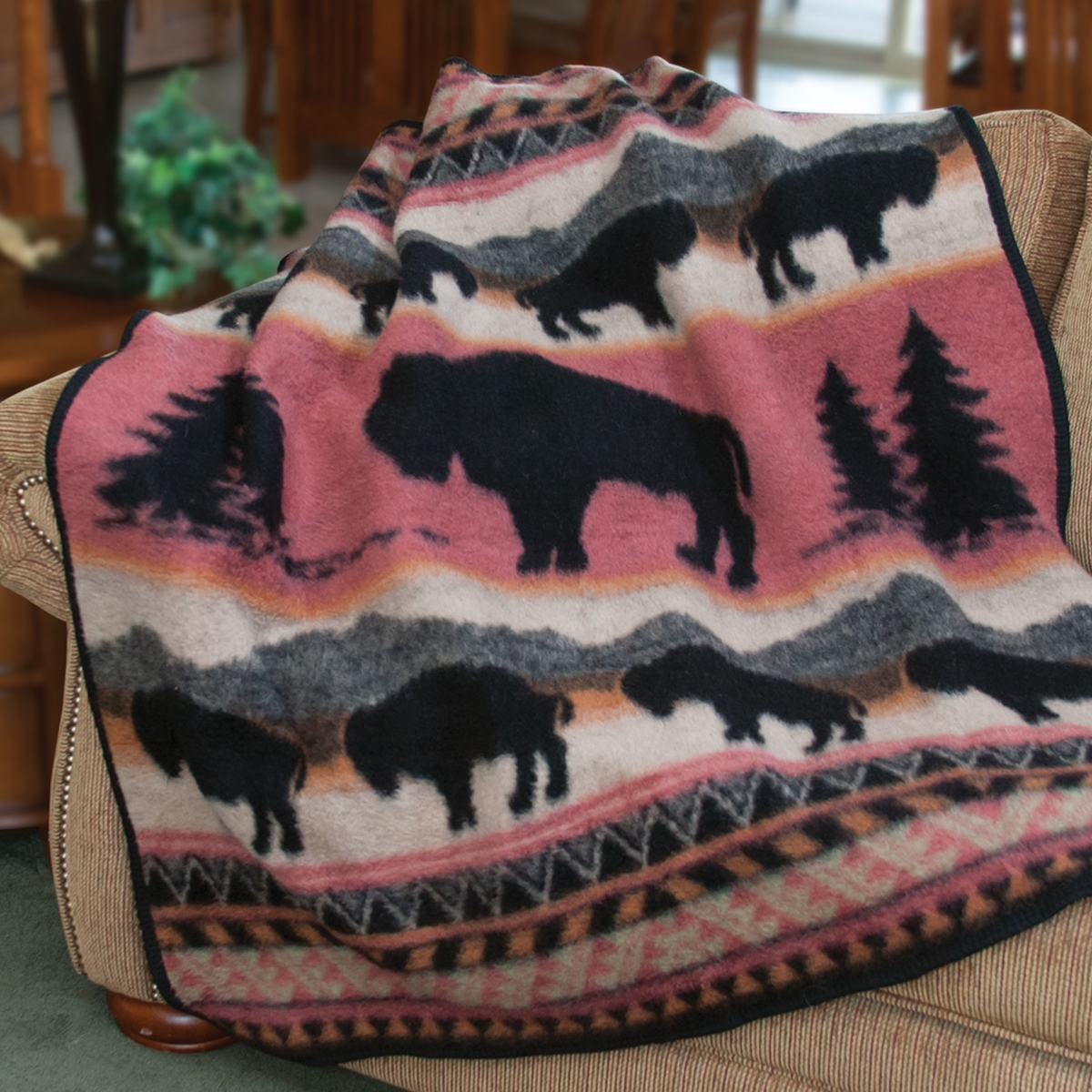 Buffalo Run Fleece Throw