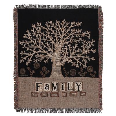 Family Tree Tapestry Throw