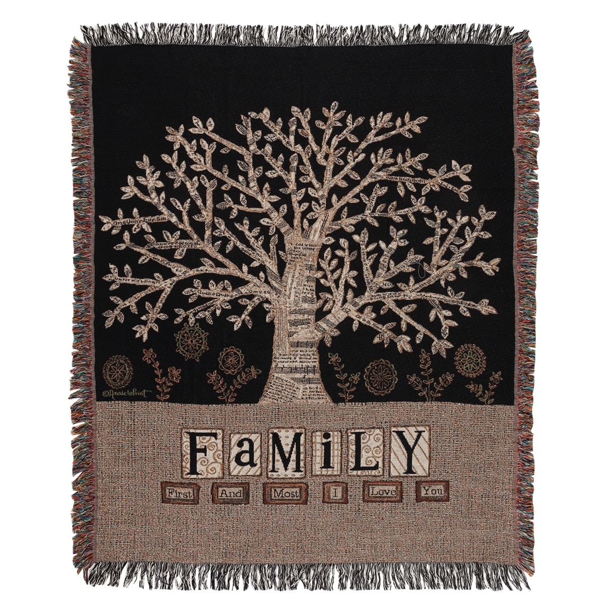 Family Tree Tapestry Throw