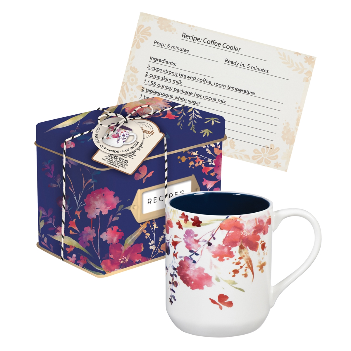Recipe Tin and Mug