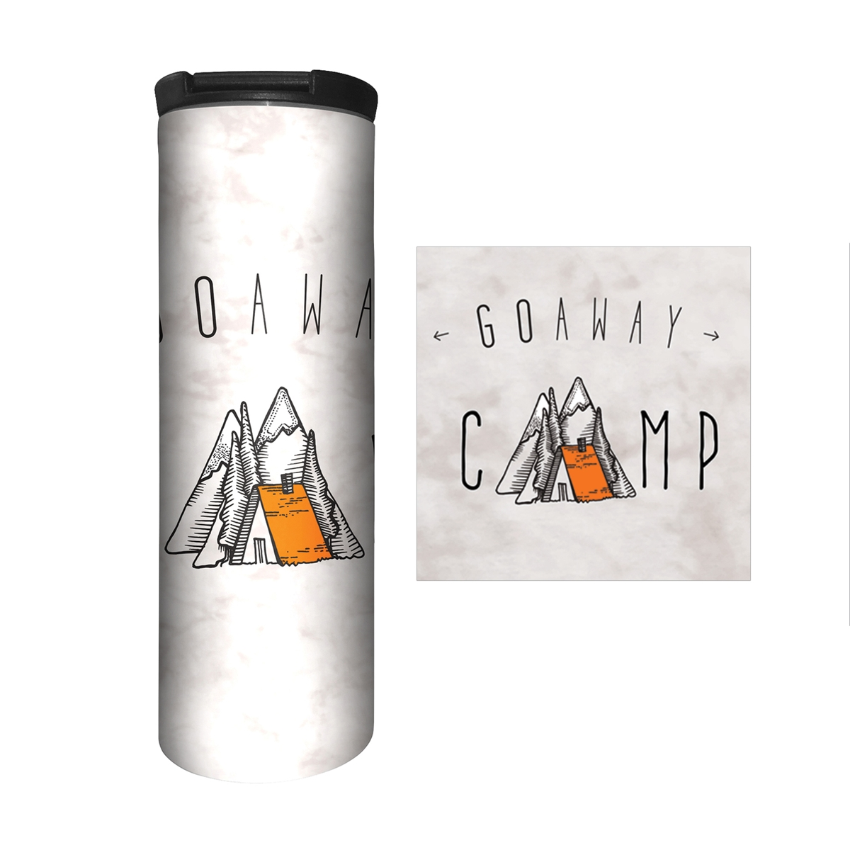 Go Away Camp Travel Mug