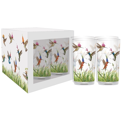 Hummingbird Frenzy Glass Set