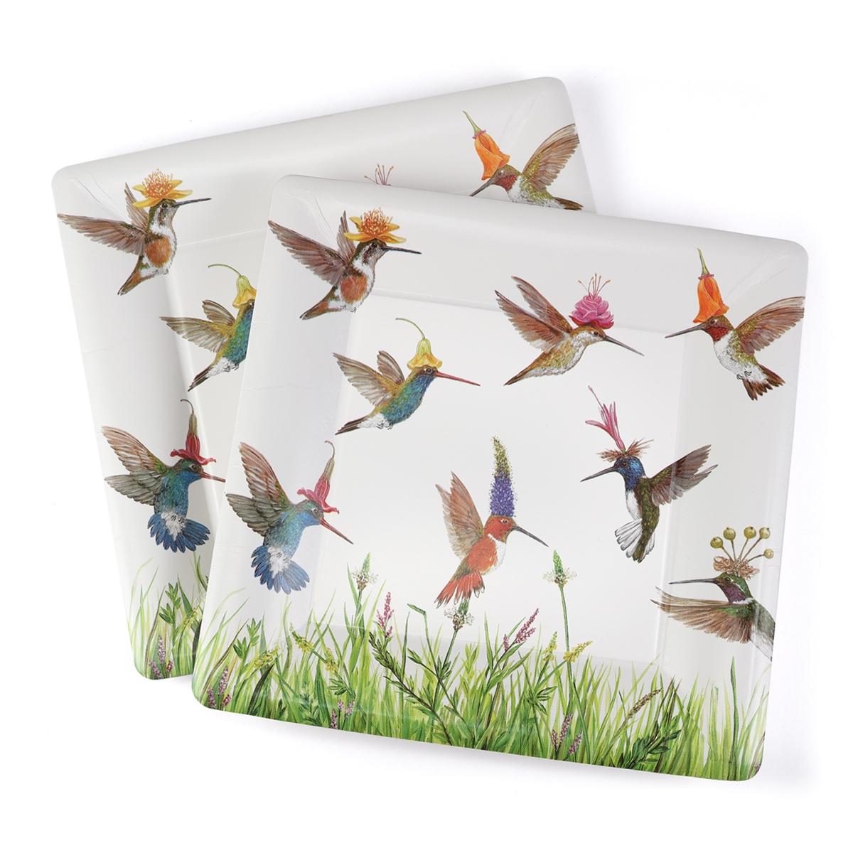 Hummingbird Frenzy Dinner Paper Plate