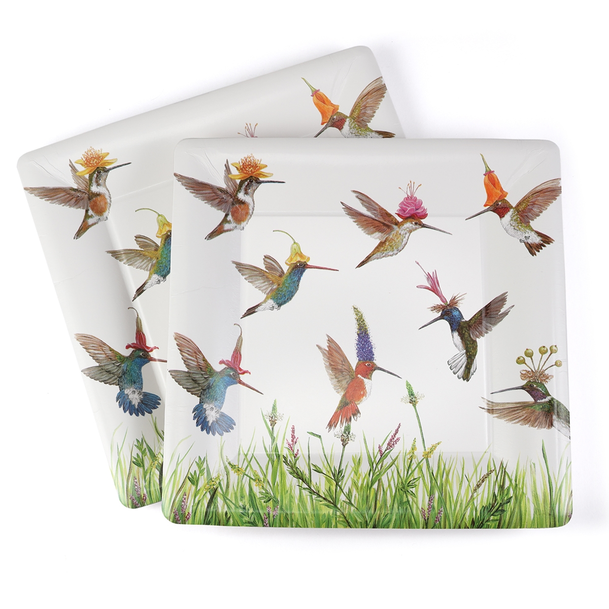 Hummingbird Frenzy Snack Paper Plate