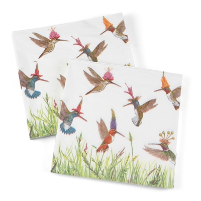Hummingbird Frenzy Lunch Napkins