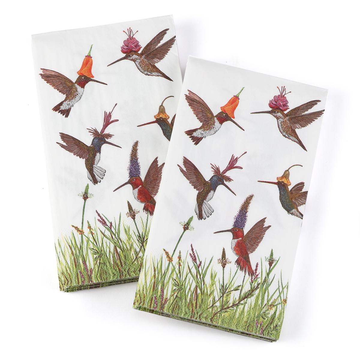 Hummingbird Frenzy Guest Napkins