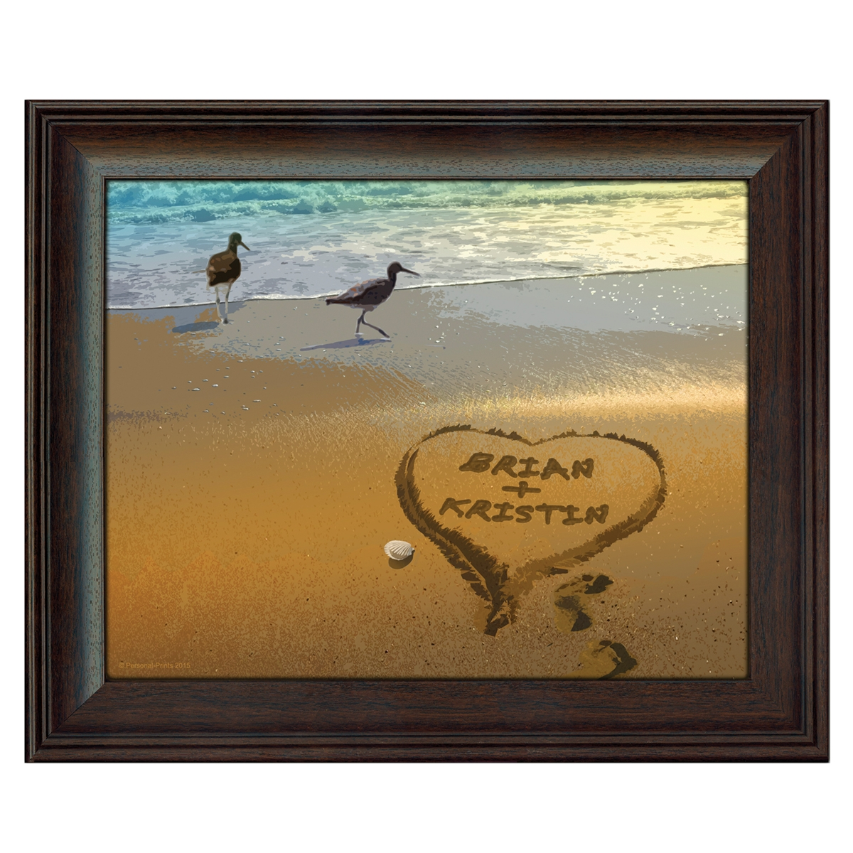 Sandpipers Personalized Art Print