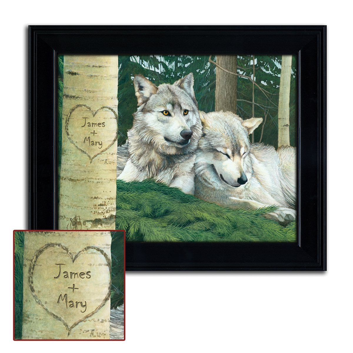 Wolves Personalized Print