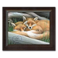 Foxes Personalized Print
