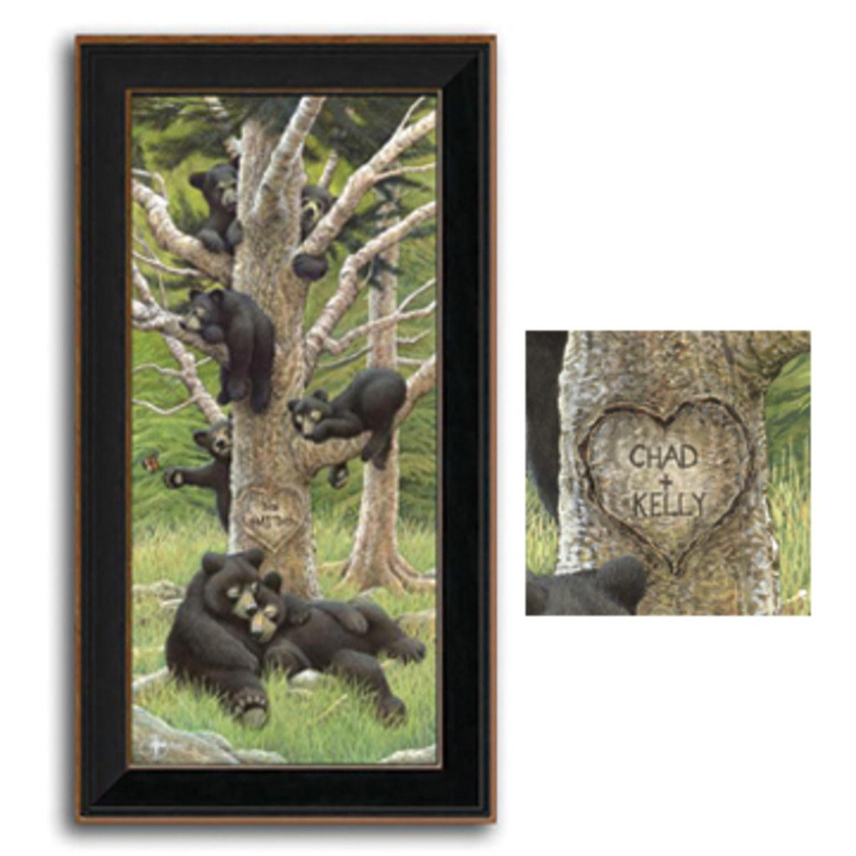 Bear Family Tree Personalized Art Print