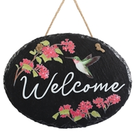 Hummingbird Welcome Plaque