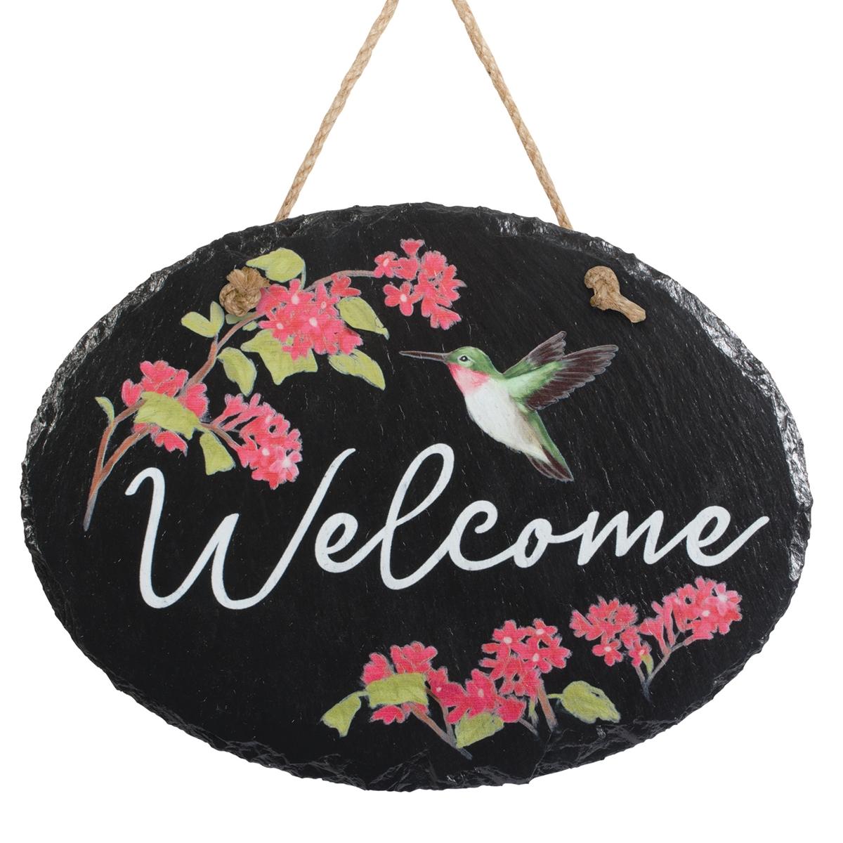 Hummingbird Welcome Plaque