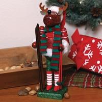 Reindeer Skier Nutcracker